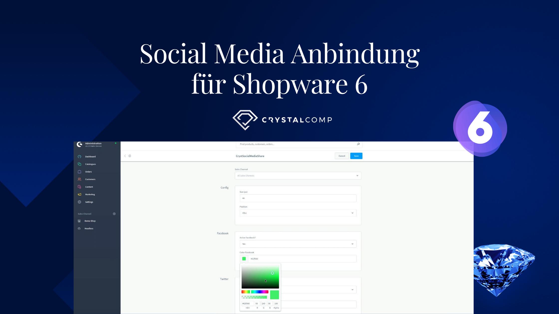 Social Media Anbindung für Shopware 6 – Anleitung