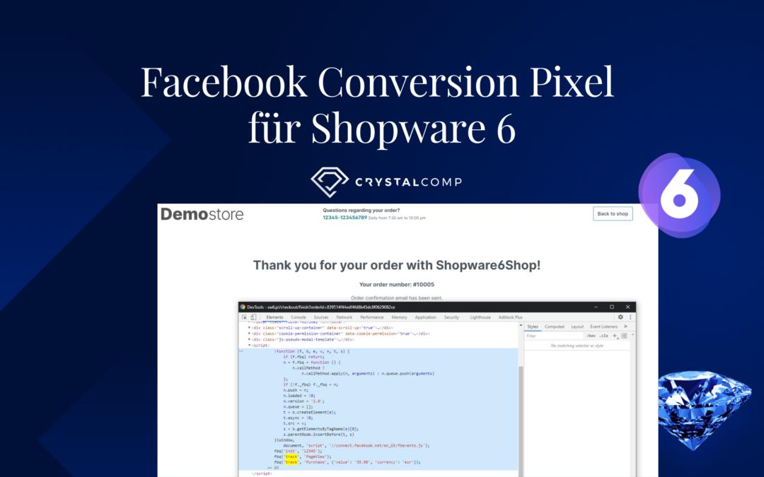 Facebook Conversion Pixel für Shopware 6